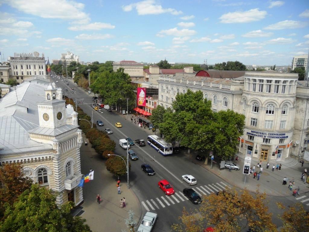 The Bulevardul Ștefan cel Mare in Chișinău