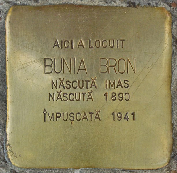 Stumbling Stone for Bunia Bron